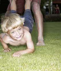 kid playing on a freshly cleaned carpet